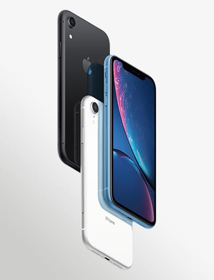 Iphonexr Black White Blue 3Up Hero Vertical US EN PRINT