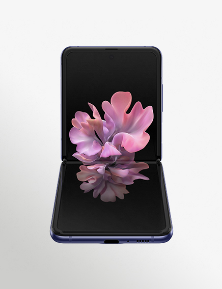Sm F700f Galaxy Z Flip Front Table Top Purple Mirror 191224 (1)
