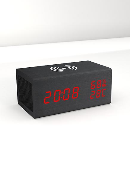 שעון מעורר דיגיטלי + מטען אלחוטי Bluetooth