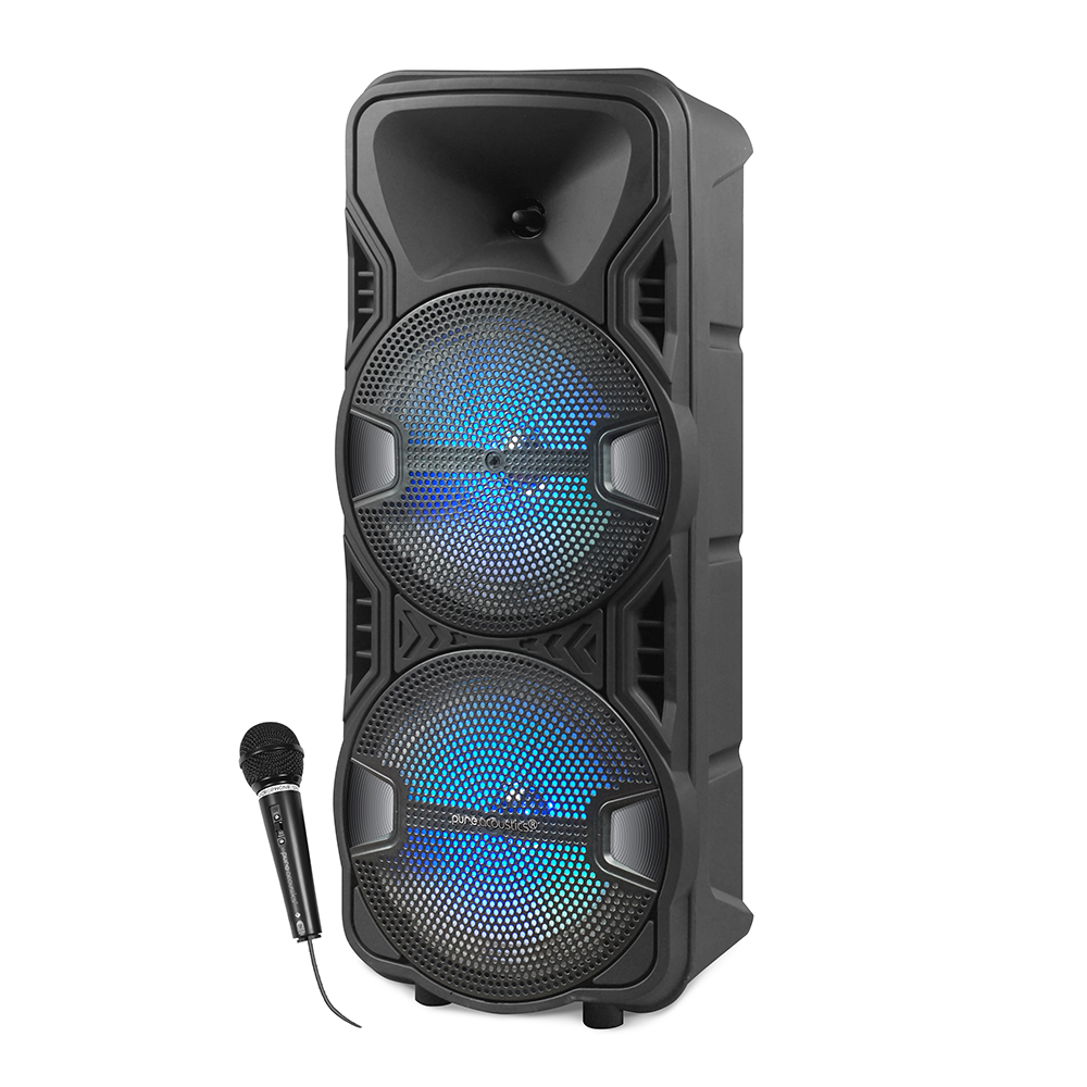 V 8150 Pure Acoustics Portable Bt Speaker Isometric With Mic Web