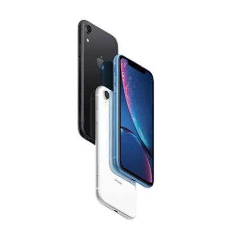 טלפון סלולרי iPhone XR 128GB - Iphone xr Black White Blue 3Up Hero Vertical
