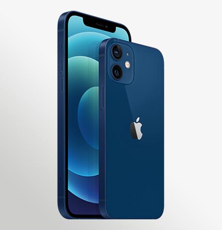 Iphone 12 Blue 34FL Iphone 12 Mini Blue 34BR 2 Up Print WWEN
