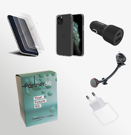 Manta, Iphone 13 Mini, Cover+Sp+Wall Charger+Car Charger+Car Holder (1)