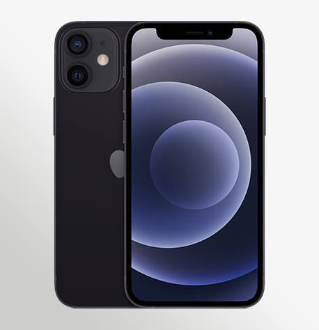 Iphone 12 Mini Black Pure Front Iphone 12 Mini Black Pure Back 2 Up Print USEN (1)