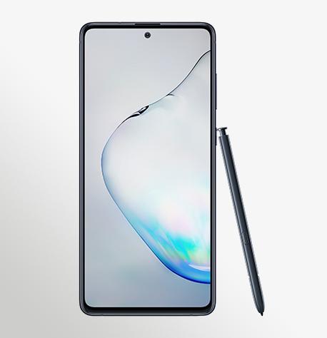 טלפון סלולרי Samsung Galaxy Note 10 Lite - סמסונג גלקסי Samsung Galaxy Note 10 Lite Front Pen Aura black